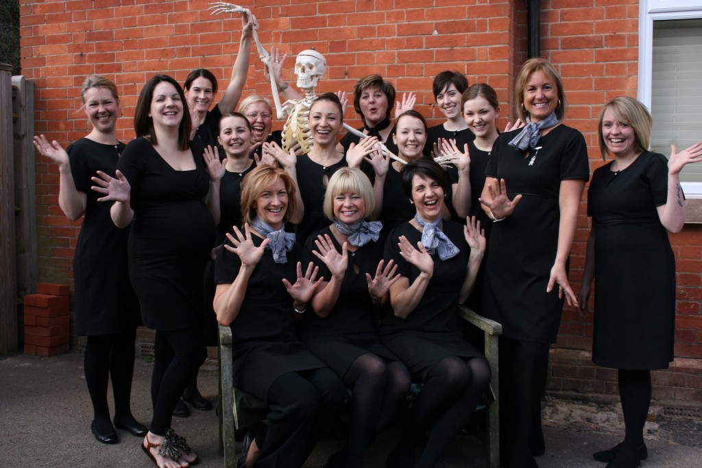Tutors and Class of Sussex Beauty Training School 2012/13